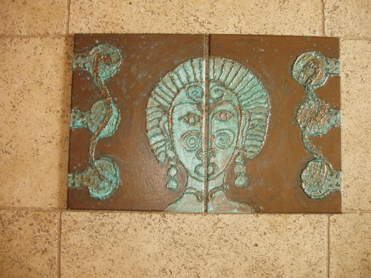 2 x 31cm by 41cm canvas.